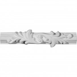 10 5/8W x 2 3/4H x 3/4P Ashford Floral Panel Moulding Center