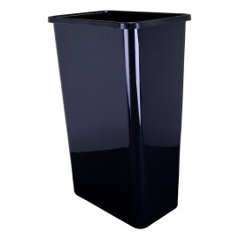 50-Quart Plastic Waste Container Black.