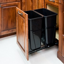 35-Quart Double Pullout Waste Container System.
