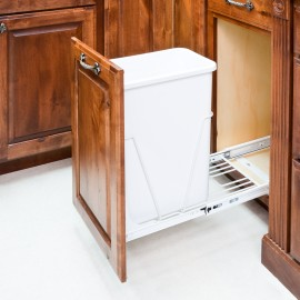 35 or 50 Quart Single Pullout Waste Container System.