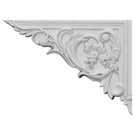 Left Flower Stair Bracket- SB08X06FL-L