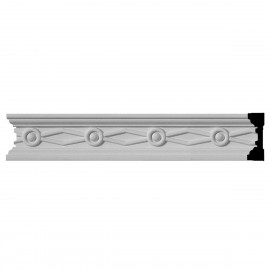 """1 1/2""""H x 1/2""""P x 96""""L Federal Chair Rail"""