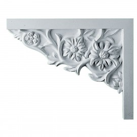 Left Floral Stair Bracket- SB09X07FL-L