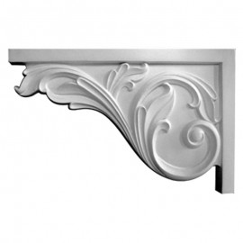 Left Large Acanthus Stair Bracket - SB11X07AC-L