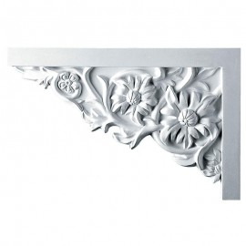 Left Floral Large Stair Bracket - SB11X07FL-L