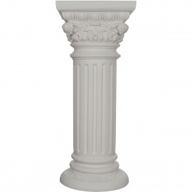 """""""13 3/4""""""""BW x 14 1/8""""""""TW x 33 1/2""""""""H Acanthus Plant Stand Column"""""""