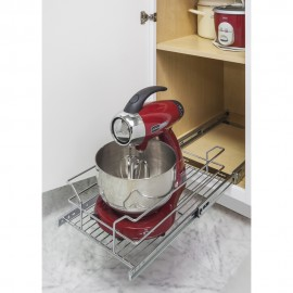 "Metal Basket Pullout Organizer for 15"" Base Cabinet"