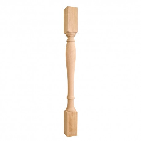 P1-42 Turned Wood Post (Island Leg)