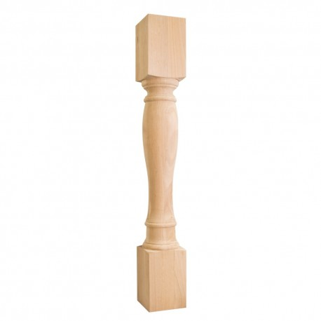 P1-5-36 Turned Wood Post (Island Leg)