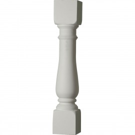"""""""5""""""""W x 28""""""""H Oxford Baluster - 7 1/2"""""""" On Center Spacing to Pass 4"""""""" Sphere Code"""""""