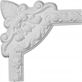 10 3/4W x 10 3/4H Sussex Floral Panel Moulding Corner