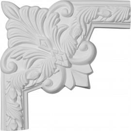 10W x 10H Milton Running Leaf II Panel Moulding Corner