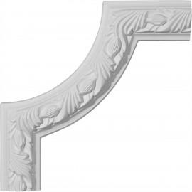 10W x 10H Milton Running Leaf Panel Moulding Corner