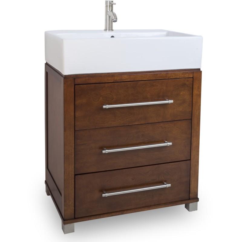 28 quot chocolate bathroom vanity van097 t preassembled with