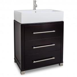 "28"" Chocolate Bathroom Vanity VAN097-T Preassembled with top and bowl"