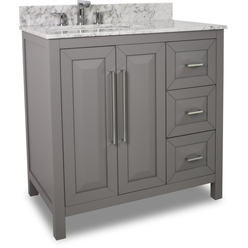 35 Quot Grey Modern Bathroom Vanity Van100 36 T With White