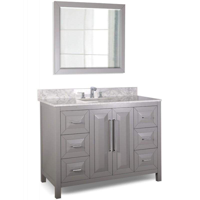 48 quot grey modern bathroom vanity van100 48 t