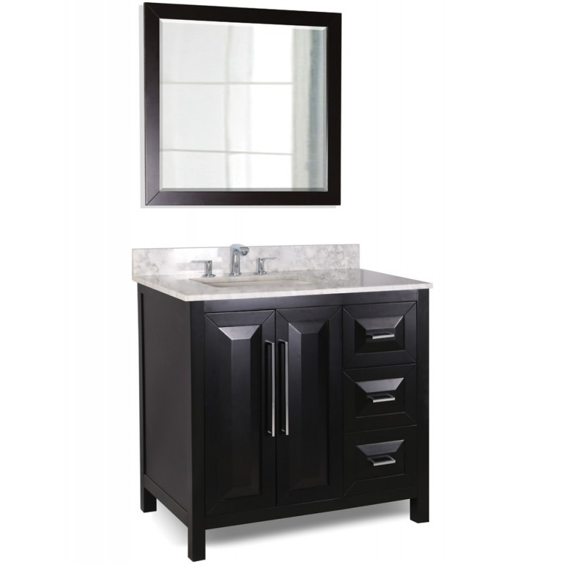 36 Black Modern Bathroom Vanity VAN101 36 T