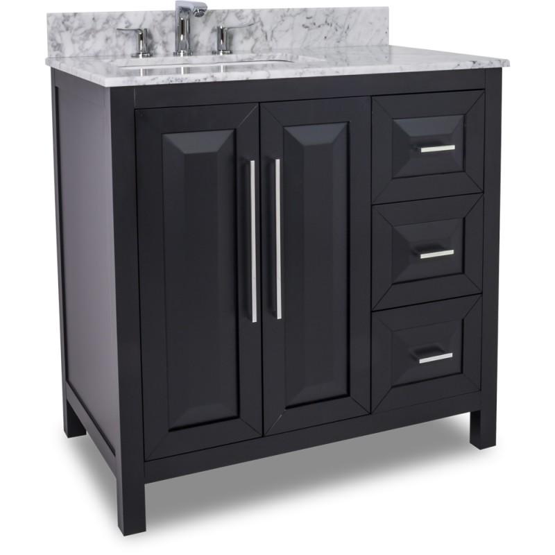 36 quot black modern bathroom vanity van101 36 t