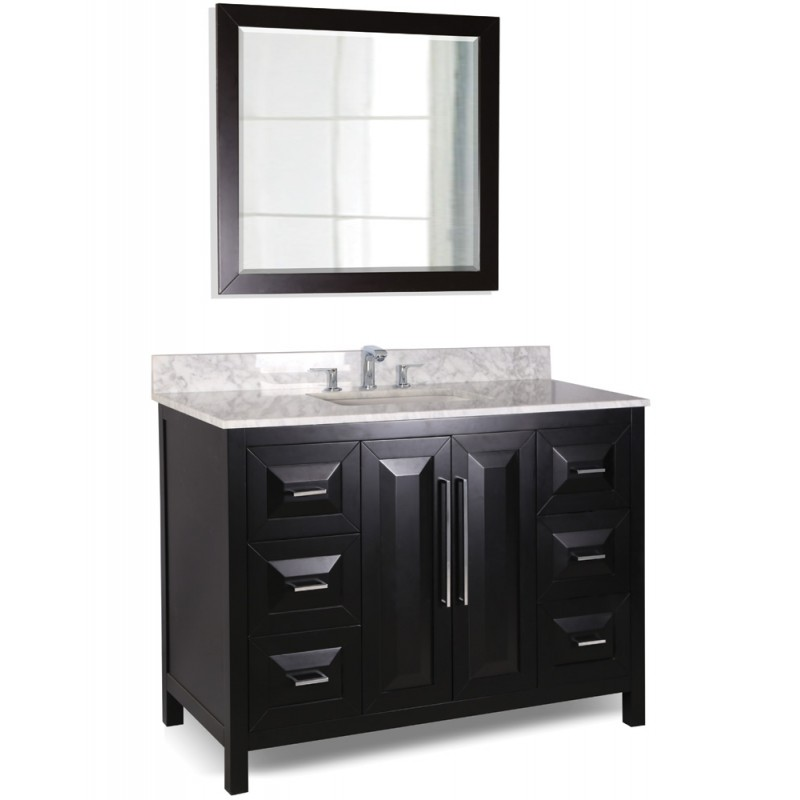 48 quot black modern bathroom vanity van101 48 t