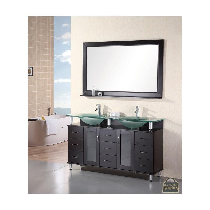 Bathroom Vanities Huntington  Double Sink Vanity Set In Espresso