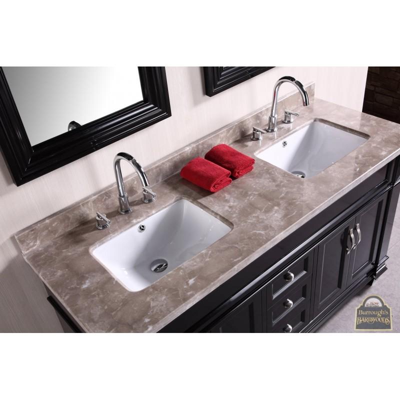 Hudson 60 Double Sink Vanity Set In Espresso Burroughs Hardwoods Onli