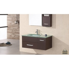 "Christine 35"" Single Sink - Wall Mount Vanity Set in Espresso"
