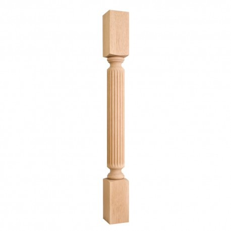 P22 Wood Post with Fluted Pattern (Island Leg)