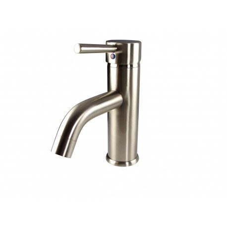Fresca Sillaro Single Hole Mount Bathroom Vanity Faucet - Brushed Nickel