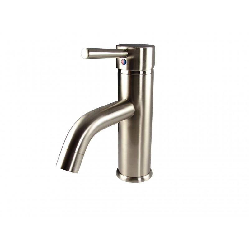 Fresca Sillaro Single Hole Mount Bathroom Vanity Faucet Brushed Nickel Bu