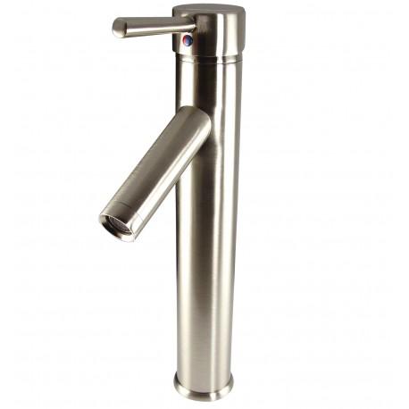 Fresca Soana Single Hole Vessel Mount Bathroom Vanity Faucet - Brushed Nickel