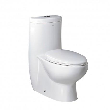 Fresca Delphinus One-Piece Dual Flush Toilet w/ Soft Close Seat