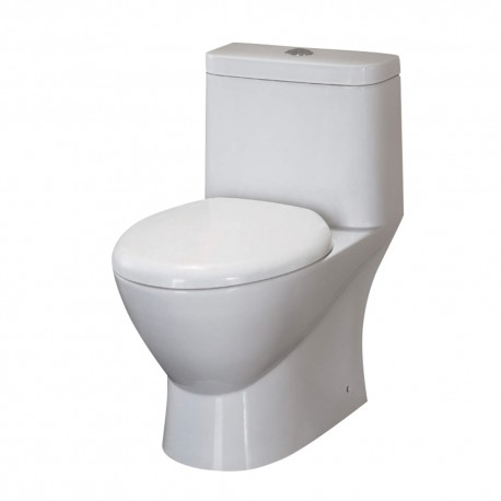 Fresca Serena One-Piece Dual Flush Toilet w/ Soft Close Seat