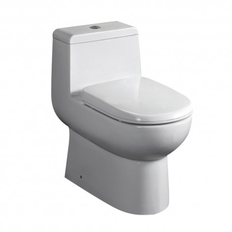 Fresca Antila One-Piece Dual Flush Toilet w/ Soft Close Seat