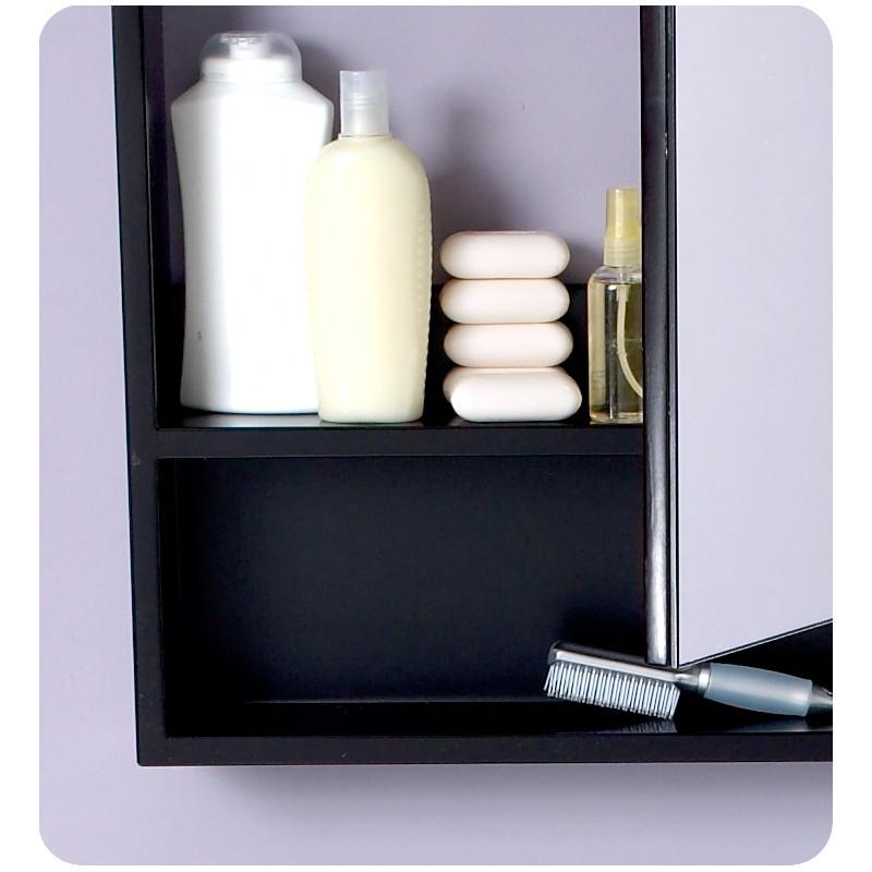 Fresca Small Espresso Bathroom Medicine Cabinet W Small Bottom Shelf Burroughs Hardwoods
