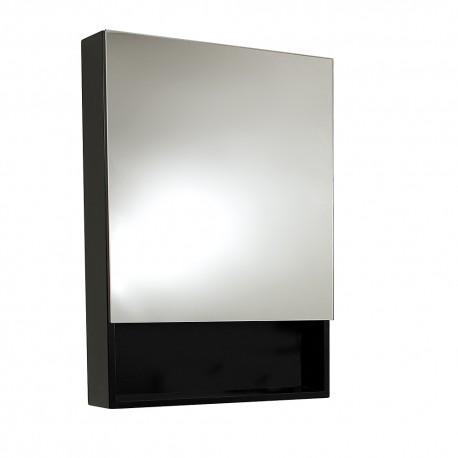 Fresca Small Espresso Bathroom Medicine Cabinet w/ Small Bottom Shelf