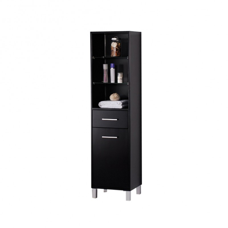 bath storage cabinets fresca espresso bathroom linen side cabinet