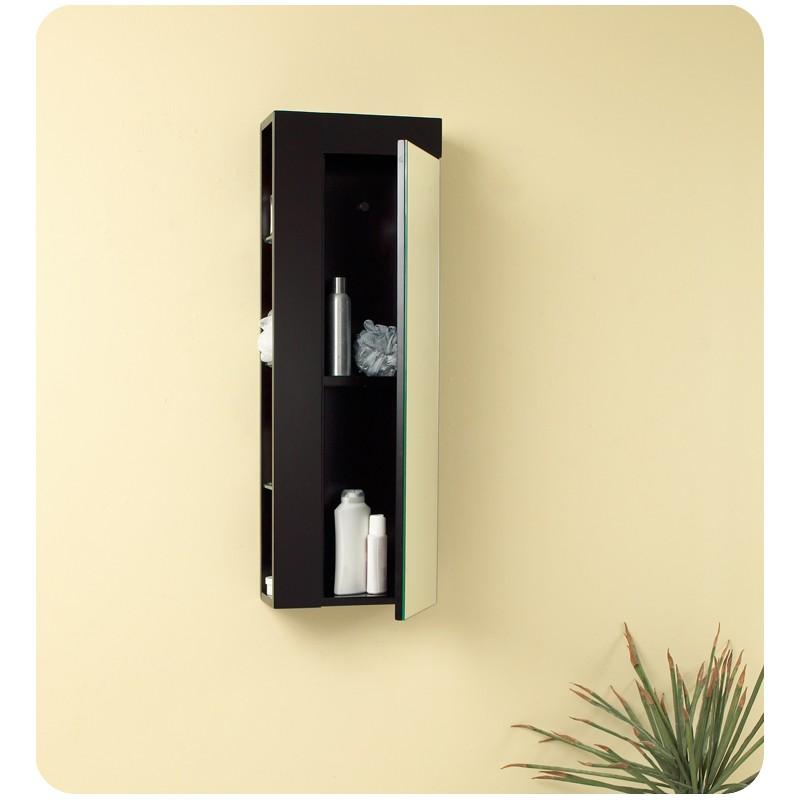fresca espresso bathroom linen side cabinet w large