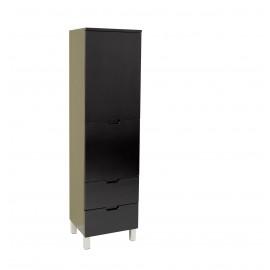 Fresca Espresso Bathroom Linen Side Cabinet w/ 4 Storage Areas