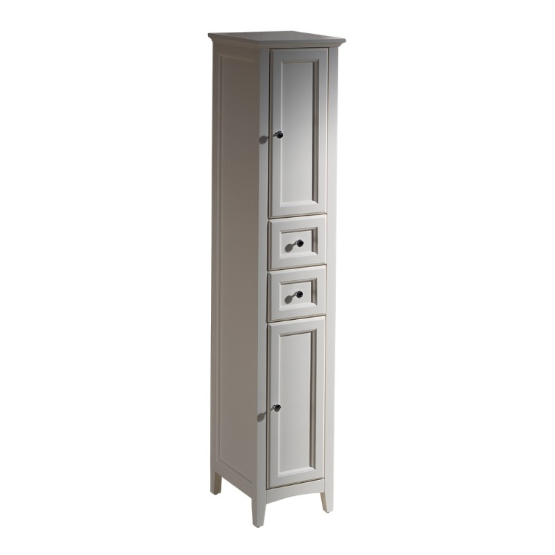 bath storage cabinets fresca oxford antique white tall bathroom
