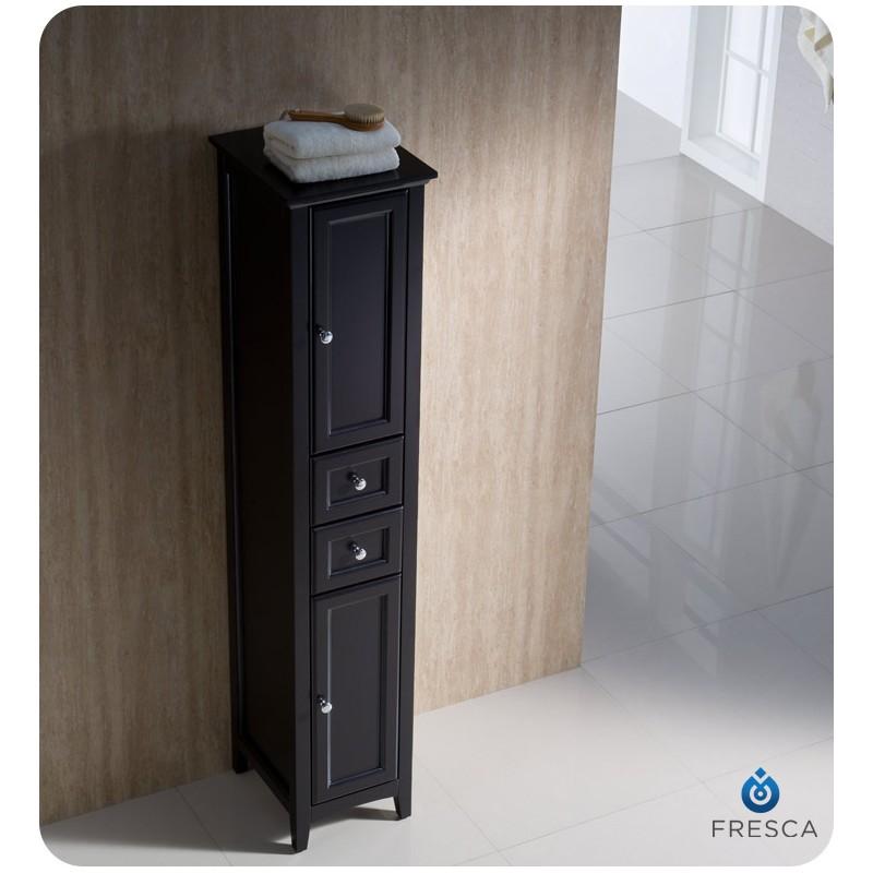 bath storage cabinets fresca oxford espresso tall bathroom linen