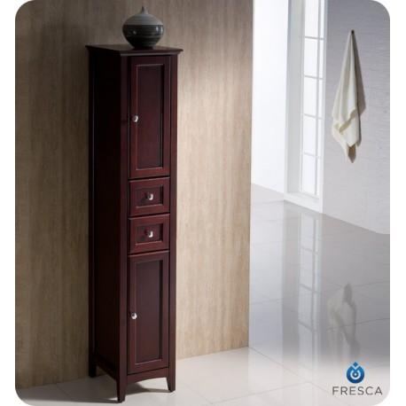White Tall Bathroom Linen Cabinet