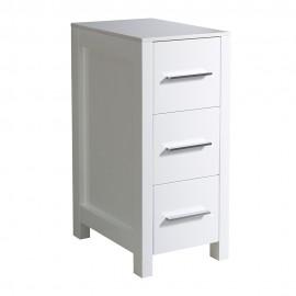 "Fresca Torino 12"" White Bathroom Linen Side Cabinet"