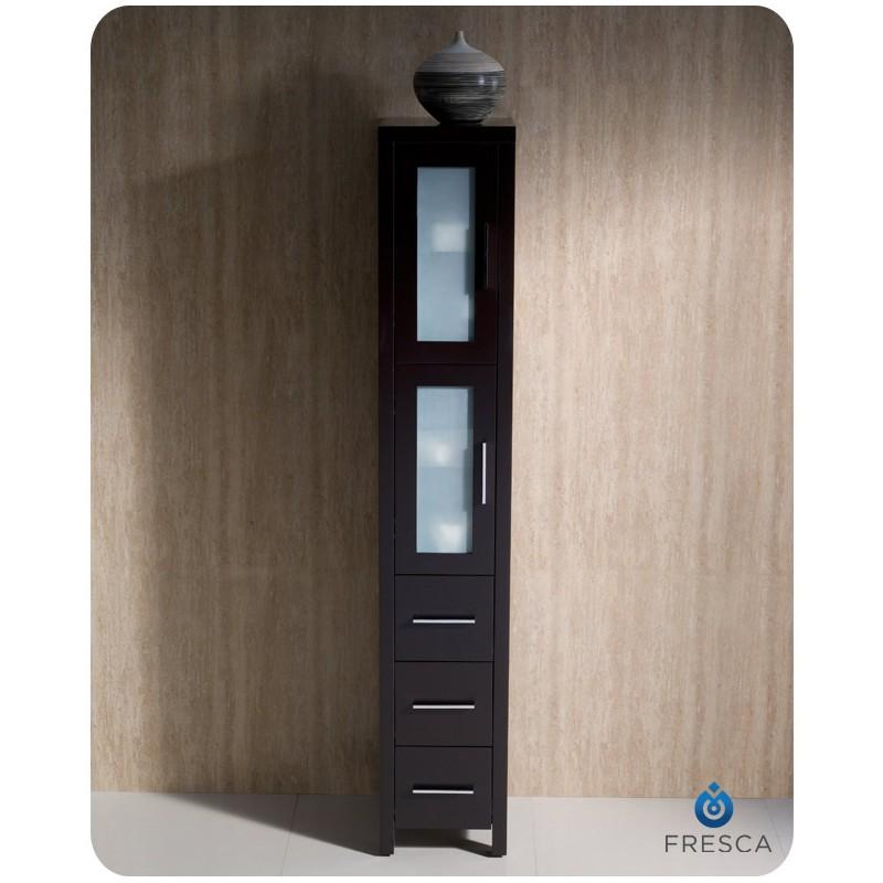 Fresca Torino Espresso Tall Bathroom Linen Side Cabinet Burroughs Hardwoods Online Store