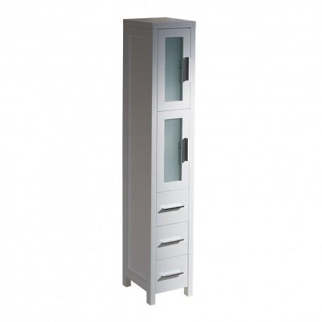 Fresca Torino White Tall Bathroom Linen Side Cabinet