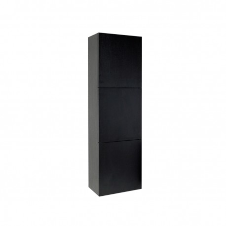 Fresca Black Bathroom Linen Side Cabinet w/ 3 Large Storage Areas