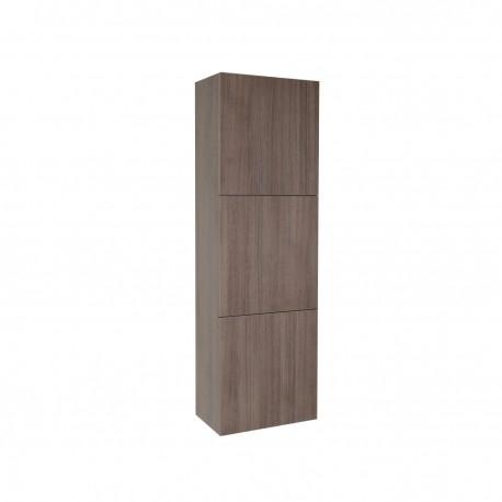 Fresca Gray Oak Bathroom Linen Side Cabinet w/ 3 Large Storage Areas