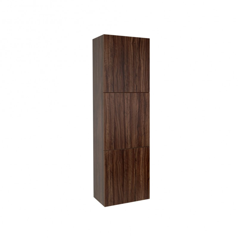 Fresca Walnut Bathroom Linen Side Cabinet W 3 Large