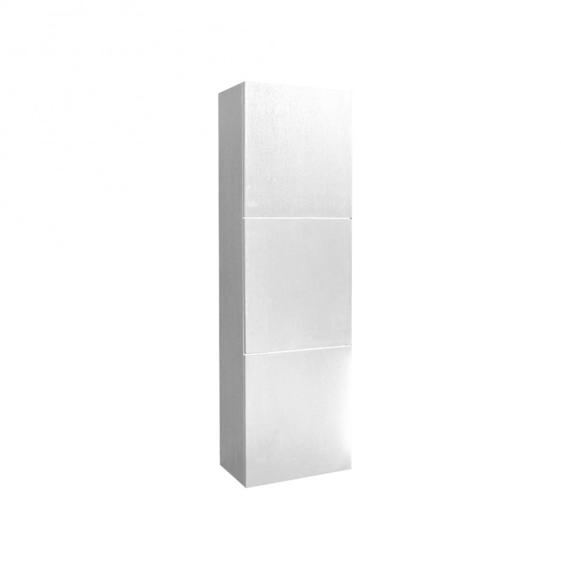 fresca white bathroom linen side cabinet w 3 large