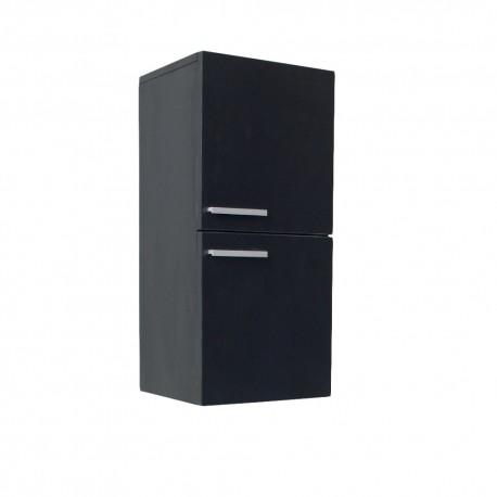 Fresca Black Bathroom Linen Side Cabinet w/ 2 Storage Areas